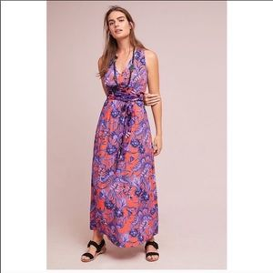 ANTHROPOLOGIE Maeve Macie Floral Maxi Dress 10